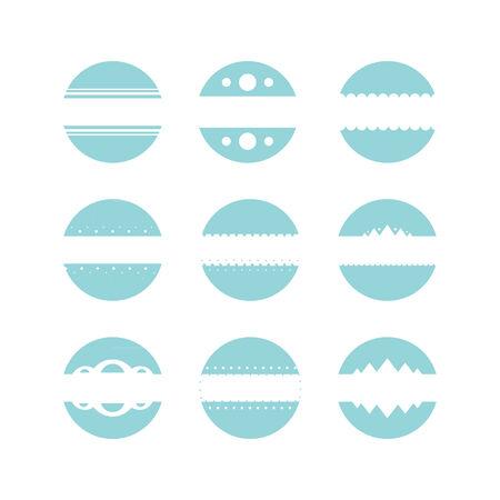 Set circles Vector