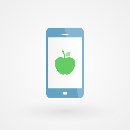 Smartphone and apple Vector