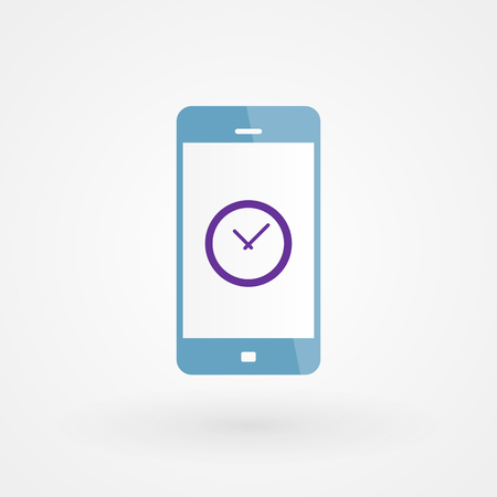 alarm system: Smartphone and clock