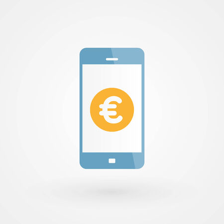 Smartphone and Euro Vector