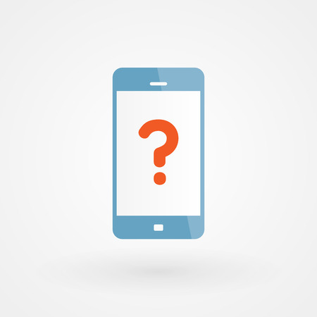 internet mark: Smartphone and query Illustration