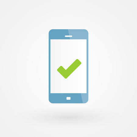 Smartphone and right icon Stock Vector - 29727701