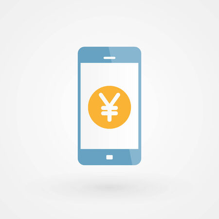 Smartphone and Yen Vector