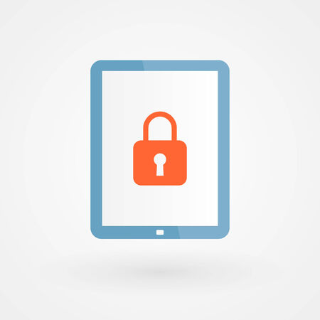 Tablet and padlock Vector