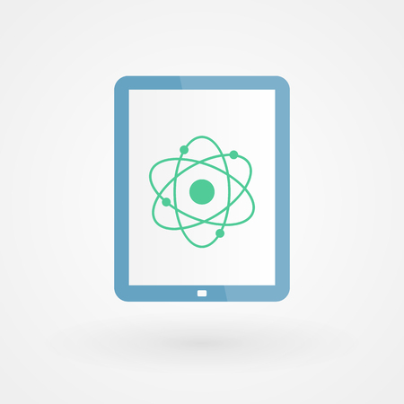 atom icon: Tablet and atom icon