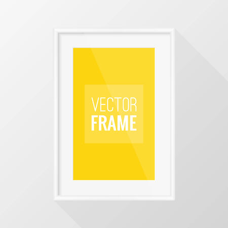 a4: White frame vector design with long shadow