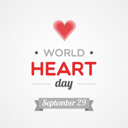 World Heart Day Vettoriali