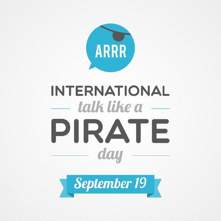 hablando: Charla internacional como un d�a del pirata Vectores