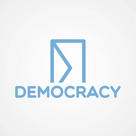 Democracy concept illustration