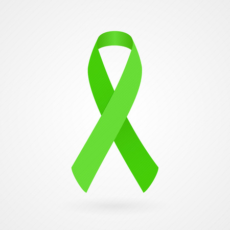 Lime Awareness Ribbon Vector
