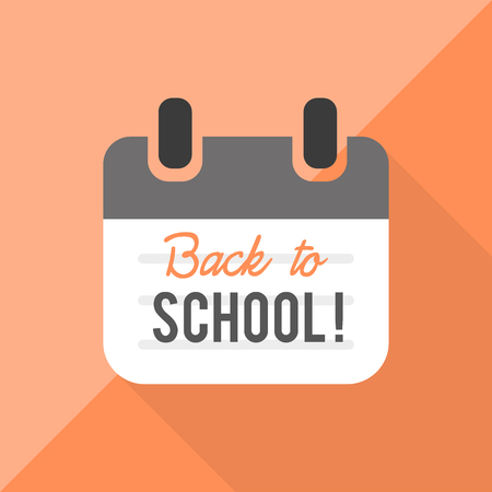 classes schedule: Back to school: calendar Illustration