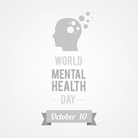 世界メンタルヘルス ・ デー  イラスト・ベクター素材
