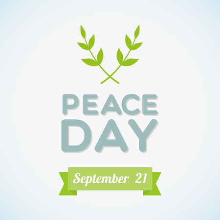 International Peace Day with olive branch Vector
