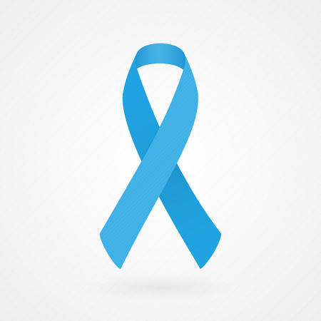 colon: Blue awareness ribbon Illustration