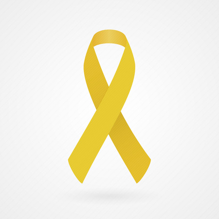 Gold awareness ribbon Illustration