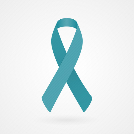 Teal awareness ribbon Illustration