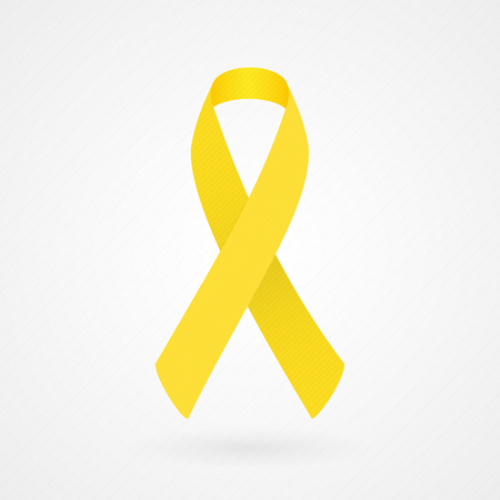 bone cancer: Yellow awareness ribbon