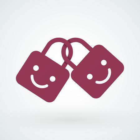 promising: Happy locks together