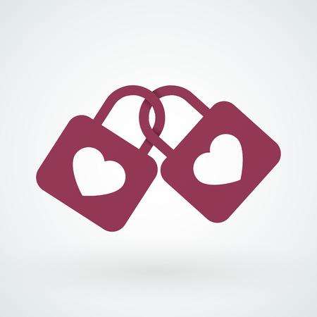 shackle: Locks together Illustration