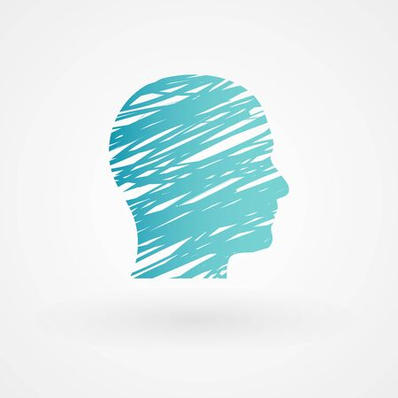social emotional: Scribble male head