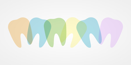 buccal: Colorful teeth illustration Illustration