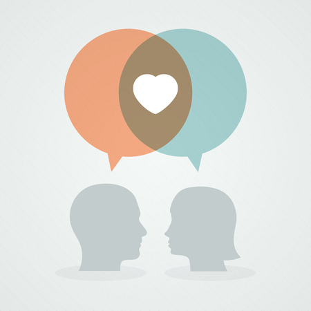 contradiction: Dialog about love Illustration