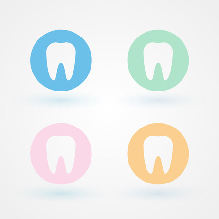 buccal: Dental icons. Several colors Stock Photo