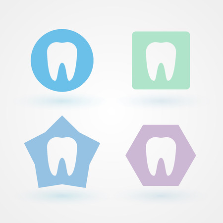 buccal: Dental icons Stock Photo