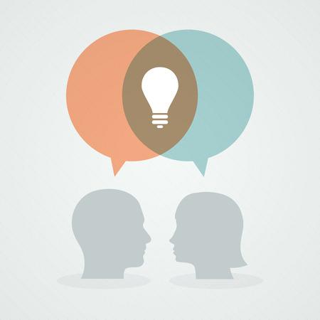 dialog: Dialog about ideas Illustration