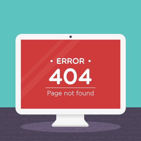 error message: 404 error page in desktop computer