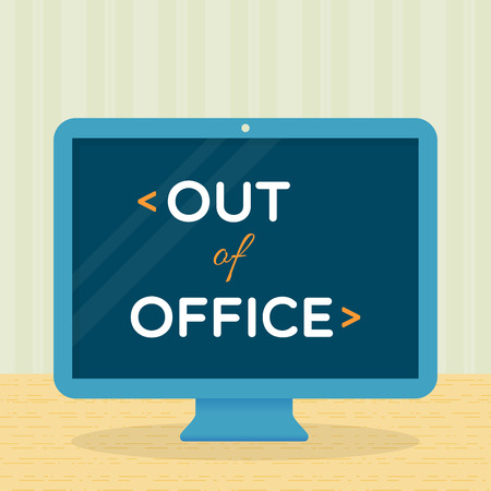 sick leave: Out of office