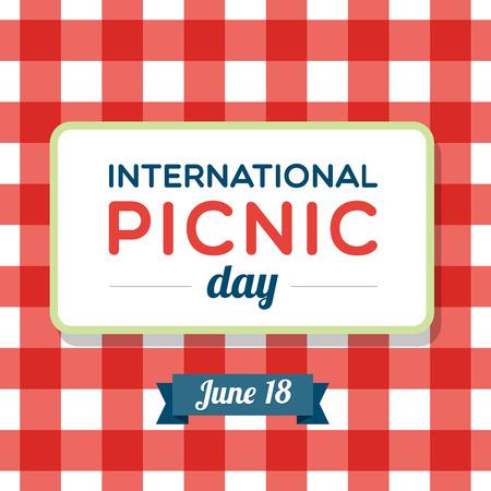 国際ピクニックの日  イラスト・ベクター素材