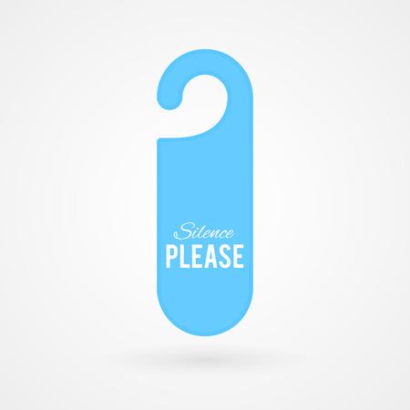 door hanger: Door hanger with text: Silence please