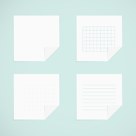 sticky notes: Set: white sticky notes
