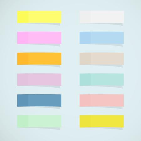 Set: mini sticky notes  イラスト・ベクター素材