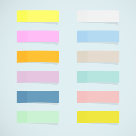 Set: mini sticky notes Vectores