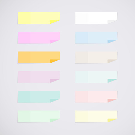 sticky: Set: mini sticky notes Illustration