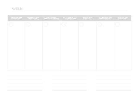 planner: Weekly planner
