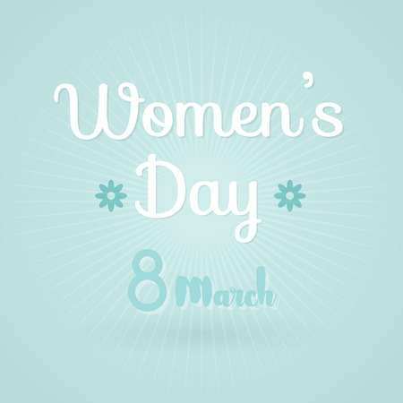 simple girl: International Womens Day. 8 March. Vector illustration