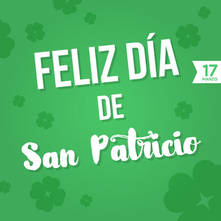 17 march: Happy St. Patricks Day. 17 March Illustration