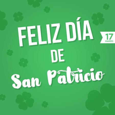 17: Happy St. Patricks Day. 17 March Illustration
