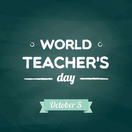 World Teacher's Day Vektoros illusztráció