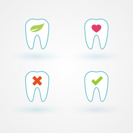 Set: flat dental icons