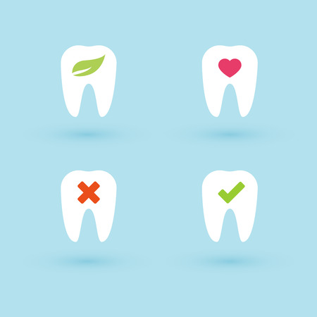 buccal: Set: flat dental icons