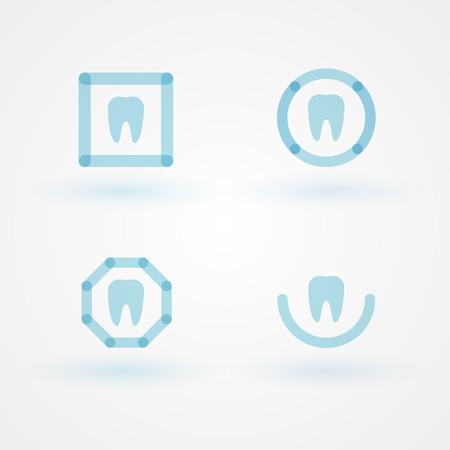 Set: flat dental logos