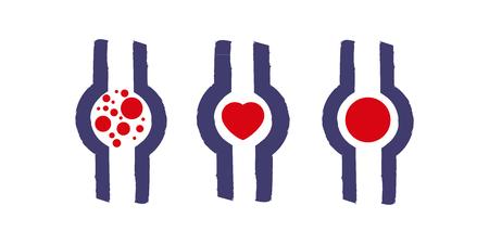 embolism: Thrombosis symbols