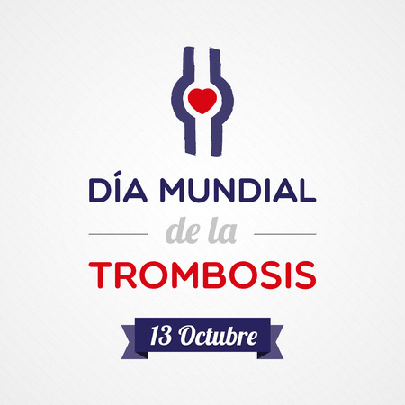embolism: World Thrombosis Day Illustration