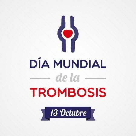 embolism: World Thrombosis Day Illustration