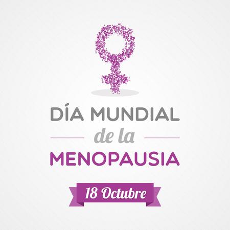 progesterone: World Menopause Day in Spanish. Dia mundial de la menopausia