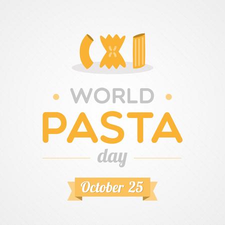 mediterranean diet: World Pasta Day Illustration
